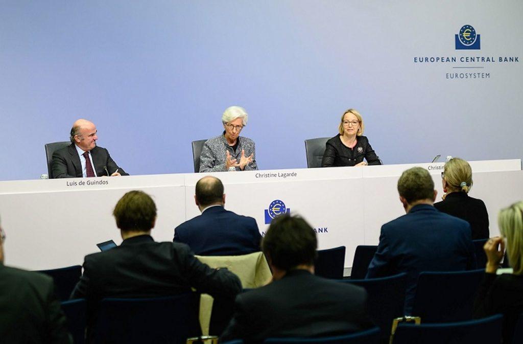 Annonces de la banque centrale européenne.